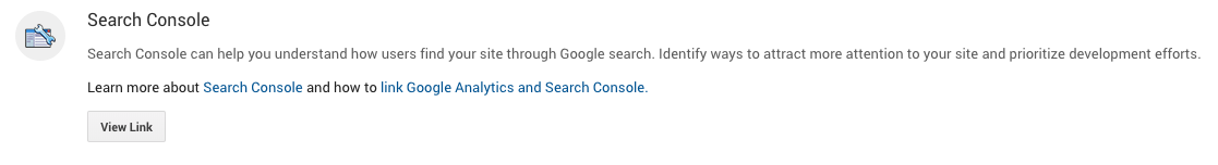 search console linking in google analytics