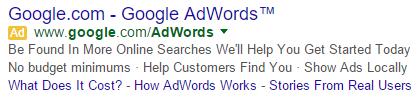 GoogleAdSitelinksOriginal