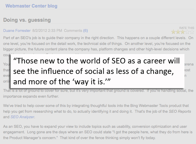 social media continues to influence search