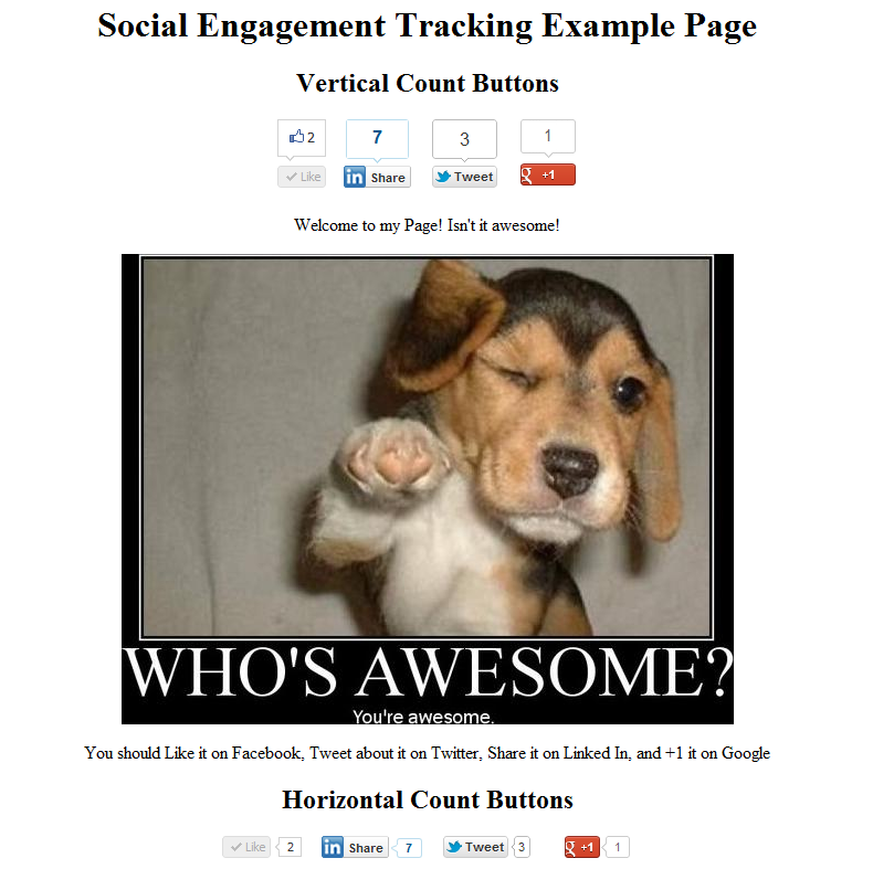 Social Engagement Tracking is Awesome