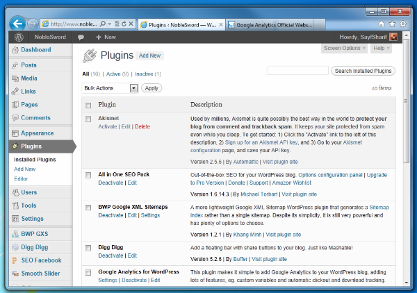 step2 - Go to your plugins page in wordpress
