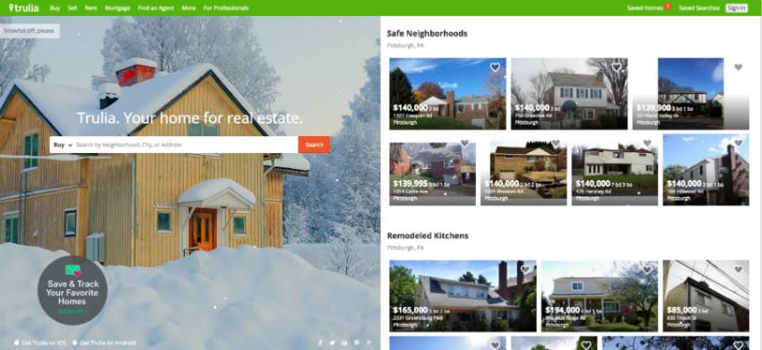 Trulia: a vertical search engine