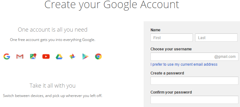 how to make my google account the default account