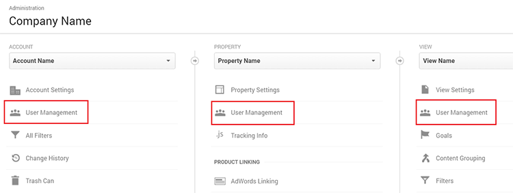 user permissions in google analytics bounteous