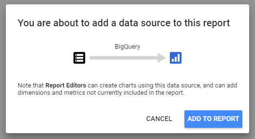 Using Google BigQuery Data in Your Data Studio Reports