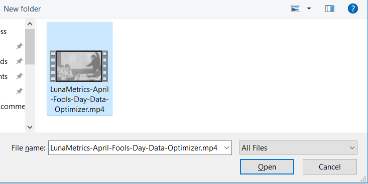 YouTube File Upload Prompt