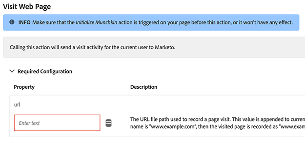 track web page visits adobe launch marketo extension