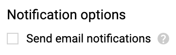 screenshot of Email Notification Settings