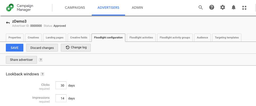 screenshot of Google's Campaign Manager dashboard