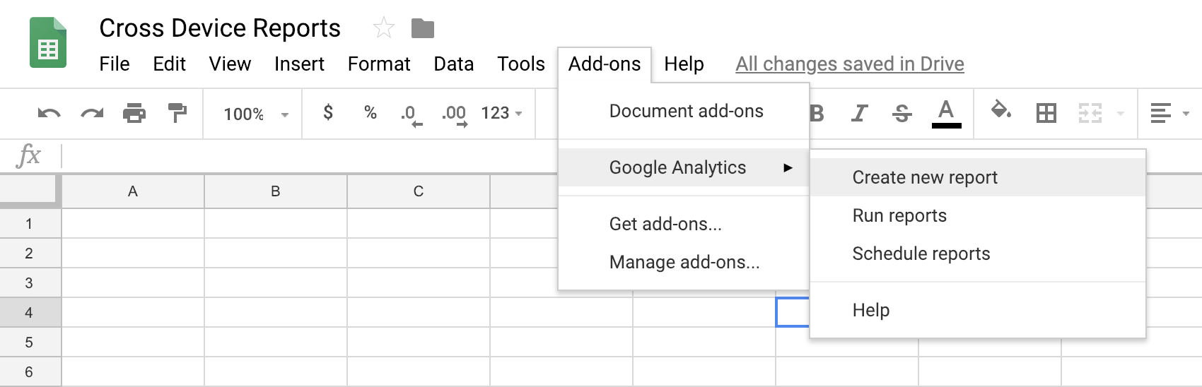 screenshot of Google Sheet set up to pull in data