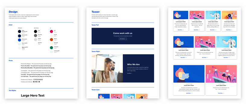flexible page template examples