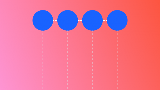 an image depicting a mapp of the current state journey, showing four circles and dotted lines connecting them