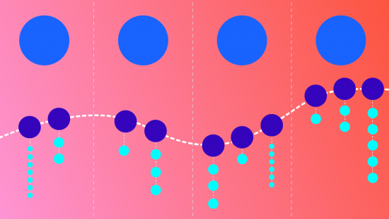an image depicting the illustration of jury duty using circles as representations