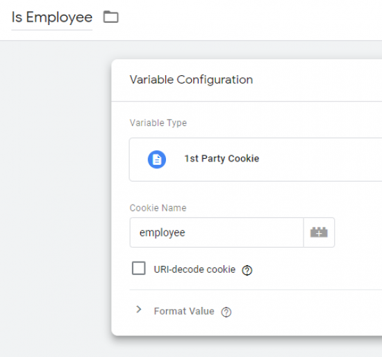 variable configuration to identify employees