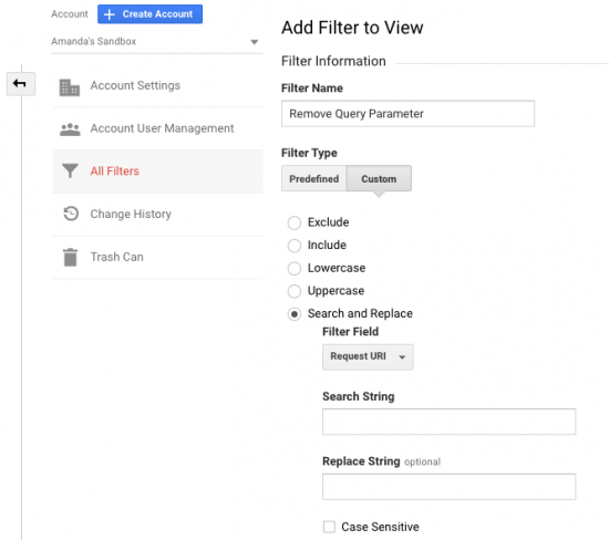 Google Analytics Filter Settings