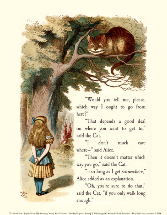 image excerpt from Alice in Wonderland