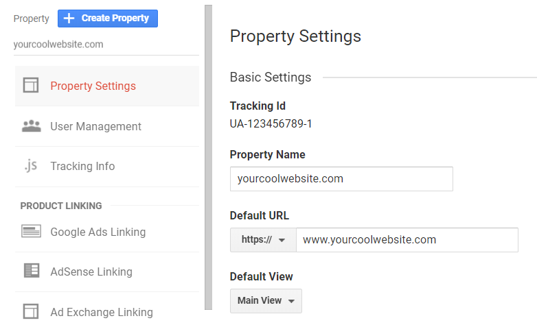 website property settings image