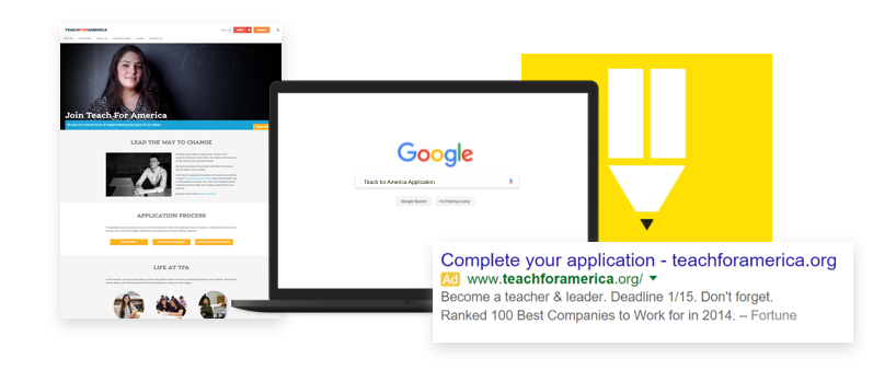 Teach for America homepage